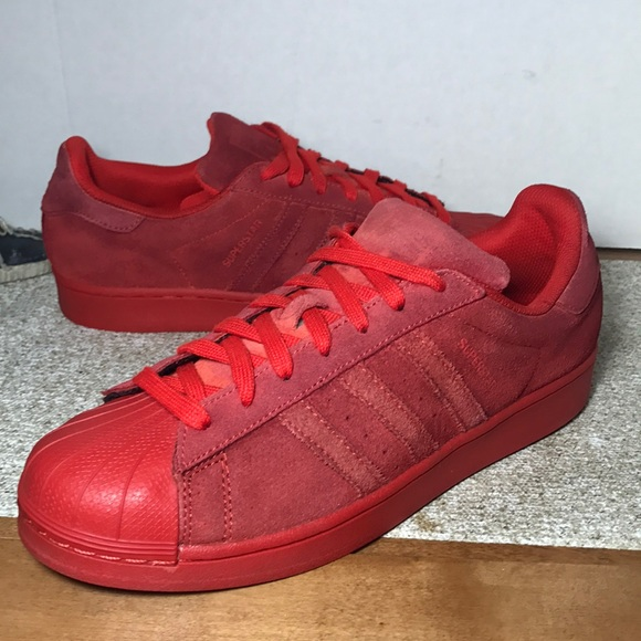 Superstar Sneakers Clean Adidas Size 10 Red c5AjL34RqS